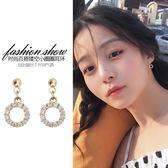 耳釘女氣質韓國個性簡約圓形精致小耳墜純銀耳飾耳夾 萬客居