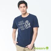 印花短袖T恤25海藍-bossini男裝