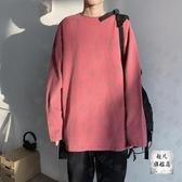 長袖T恤 年新款棉質寬鬆長袖t恤女韓版洋氣時尚連帽T恤夏季薄款打底上衣-10週年慶