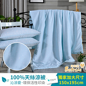 【Betrise浮萍】頂級100%奧地利天絲鋪棉涼被枕套三件組
