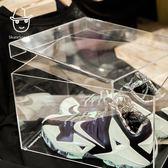 壓克力鞋盒透明球鞋收納展示櫃防氧化密封收藏aj鞋盒igo「青木鋪子」