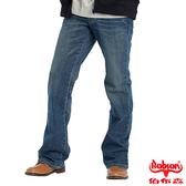 BOBSON 男款立體褶痕小喇叭褲(1653-53)