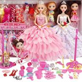 芭比娃娃會說話的芭比娃娃套裝女孩公主大禮盒別墅城堡婚紗洋娃娃兒童玩具XW(一件免運)