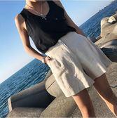 2018夏季復古休閒寬鬆顯瘦高腰棉麻短褲闊腿褲子女 東京衣櫃