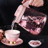 玻璃冷水壺 大容量耐熱玻璃冷水壺防爆家用冷水杯涼水壺涼白開水壺套裝涼茶壺 4色