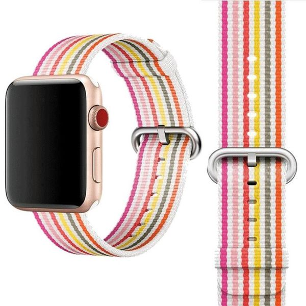適用apple watch錶帶iwatch3代蘋果手錶錶帶尼龍帆布回環運動42mm38男女4代3代2代1代iphone series小宅女