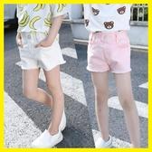 童裝夏裝新品女童水洗粉色、白色、黑色牛仔短褲中大女童熱褲