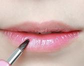 唇刷女伸縮便攜式帶蓋