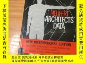 二手書博民逛書店英文原版《Neufert罕見Architects Data. the handbook of building t