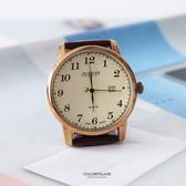 手錶 正韓Julius數字皮革腕錶 柒彩年代【NEK11】