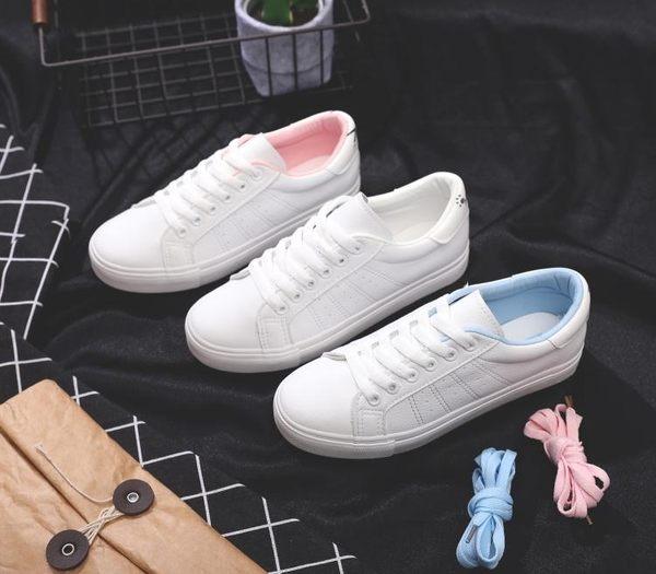 春季純色百搭純超千皮女式帆布鞋小白鞋運動 熊熊物語