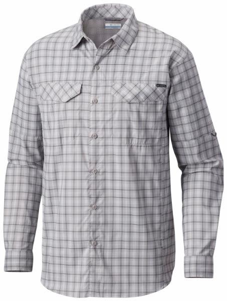 【Columbia】男款防曬40快排長袖襯衫 - 灰AE1282(GY)