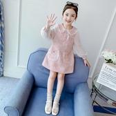 洋裝 女童小香風連身裙2020秋裝新款洋氣小女孩裙春秋長袖兒童裙子秋季 朵拉朵YC