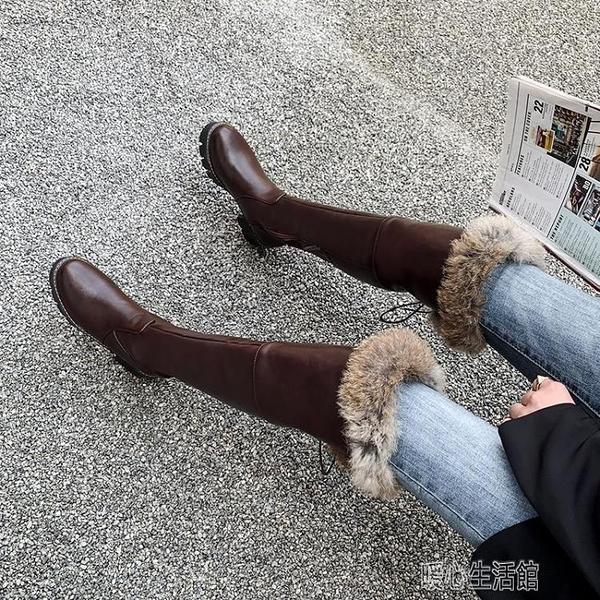 長靴雪地靴女加絨加厚二棉鞋冬季過膝長靴新款高筒靴子東北長筒靴 快速出貨
