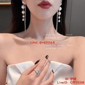 【買一送一】新款潮高級感輕奢法式氣質女神范夏季款流蘇珍珠耳飾女【CH伊諾】