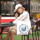 購物袋 韓版女單肩ins學生慵懶帆布包原宿ulzzang大容量購物袋布袋手提袋