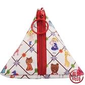 【日本製】【ECOUTE!】三角形萬用隨身小包 花花菱格圖案 SD-3779 - ecoute!
