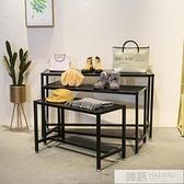 服裝店貨架包展示架陳列架落地櫥窗置物架子高低流水台桌子  夏季新品 YTL