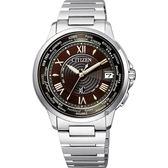 【送米奇電扇】CITIZEN 星辰 XC 限量光動能電波手錶-可可棕x銀/38mm CB1020-71X