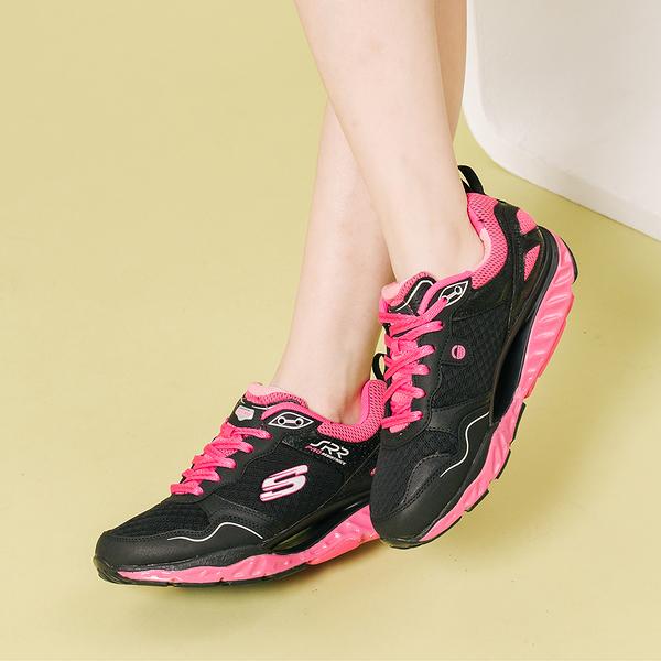 SKECHERS 慢跑系列 SRR PRO RESISTANCE 綁帶運動鞋 黑桃 88888338BKHP 女鞋