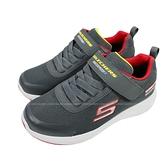 (BZ) SKECHERS 男童鞋 DYNAMIC TREAD 防水鞋 運動鞋 魔鬼氈403661LCHAR灰紅 [陽光樂活]