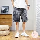男牛仔短褲大碼夏季牛仔褲寬松闊腿休閑五分中褲【大碼百分百】