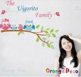 壁貼【橘果設計】Family DIY組合壁貼/牆貼/壁紙/客廳臥室浴室幼稚園室內設計裝潢