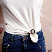 絲巾釦環 高檔兩用夾胸花絲巾扣環T恤衣角打結扣簡約時尚百搭披肩扣女 宜室家居