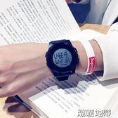 潮流韓版簡約運動男女手錶時尚電子錶數字式防水夜光超薄學生手錶【潮咖地帶】