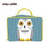 【虎兒寶】coqenpate 法國有機棉無毒環保布包-方方兒拎出門 - 貓頭鷹