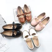 娃娃鞋 單鞋淺口日系圓頭復古小皮鞋