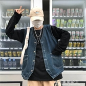 背心外套男-Korea studios.韓國復古大口袋百搭水洗牛仔馬甲外套 19ss男女款 花間公主