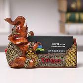 招財大象名片盒名片座 創意高檔實用辦公桌面小擺件 開業商務禮品 萬聖節禮物