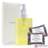 THREE 平衡潔膚油(200ml)+舒活沐浴皂(10g)X2【美麗購】