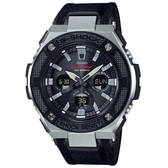【CASIO】 G-SHOCK 太陽能帆布錶帶三眼錶-黑錶帶(GST-S330AC-1A)