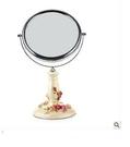 化妝鏡 臺式梳妝鏡 創意田園玫瑰花