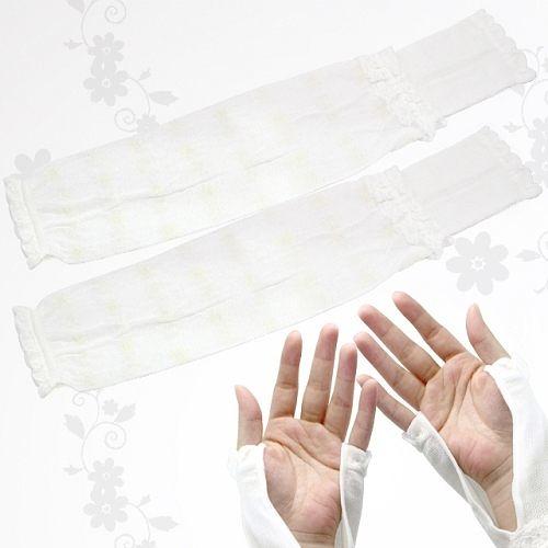 A1020【JP-Kirei】日本製輕薄小碎花開掌型防曬袖套 (兩色可選)