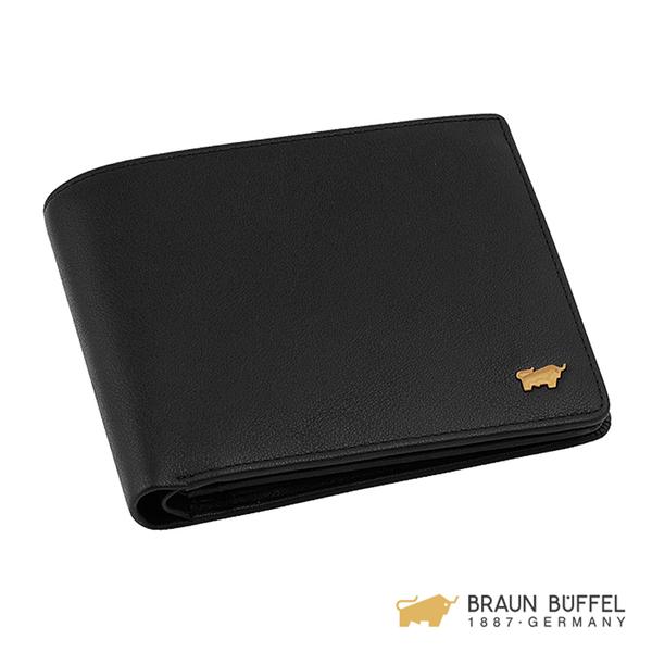 【BRAUN BUFFEL】RAZNOR 雷諾系列加大款零錢皮夾 - 黑色 BF343-348-BK