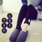襪褲—韓版冬季外穿加絨加厚打底褲可愛圖案保暖大碼彈力顯瘦踩腳褲襪女 Korea時尚記