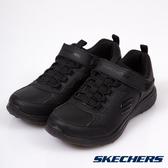 SKECHERS MICROBURST 全黑 皮面 運動鞋 女童鞋 NO.R2948