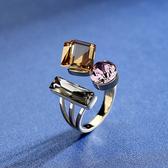 戒指 小眾設計開口戒指女復古輕奢食指指環夸張個性裝飾品網紅時尚戒子
