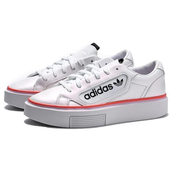 ADIDAS ORIGINALS SLEEK SUPER 珍珠白 橘 厚底 休閒鞋 女(布魯克林) EF4956