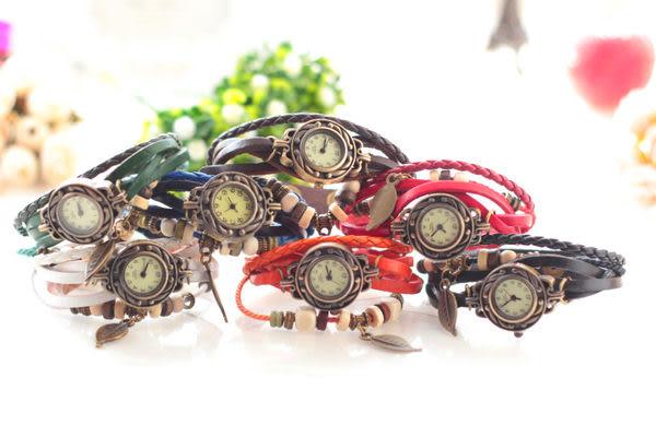 DE SHOP-復古羅馬 手錶 手鍊 飾品 配件 手環 仿牛皮 禮品 生日禮物 手鏈手錶(DIDA-699)