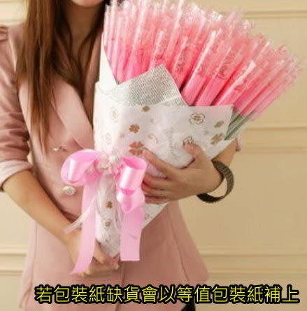 精緻玫瑰花棒棒糖/100支送花束包裝--包裝可以搭配~ 採用迷你加倍佳棒棒糖