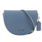 【COACH】ELLEN 素面荔枝皮革馬鞍造型斜背包(礦石藍) C1432 SVPE4