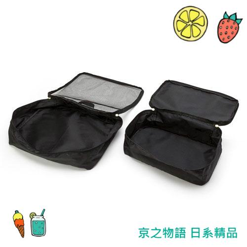 【京之物語】現貨 衣物收納袋三件組 網狀 行李袋 旅行用 日本三麗鷗HELLOKITTY
