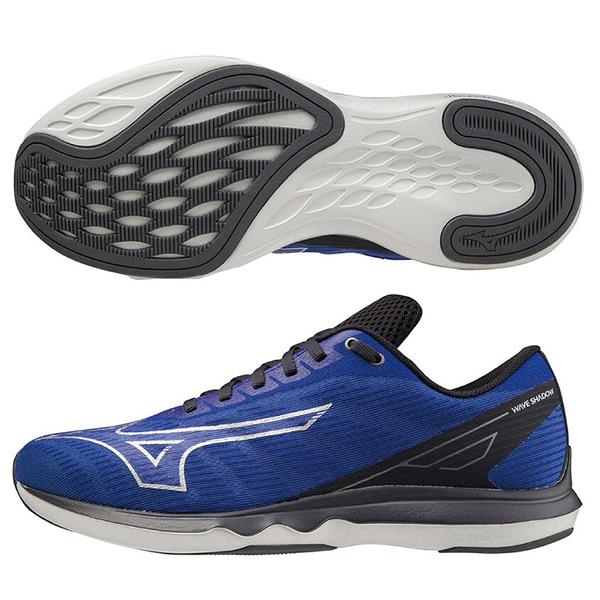 MIZUNO WAVE SHADOW 5 男鞋 慢跑 健走 寬楦 一般型 避震 透氣 藍【運動世界】J1GC212705