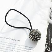 單個圓球單顆鉆飾發飾皮筋發圈頭繩