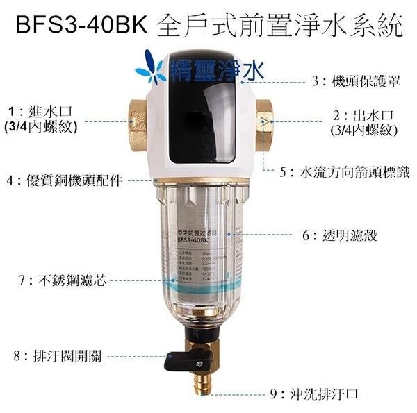 3M BFS3-40BK反洗式 + 全戶過濾淨水器:10吋大胖二道水塔濾水器組-白色烤漆吊掛型 → 優惠價$15900
