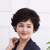 短假髮(真髮)-優雅蓬鬆捲髮斜瀏海女假髮73uu20[時尚巴黎]